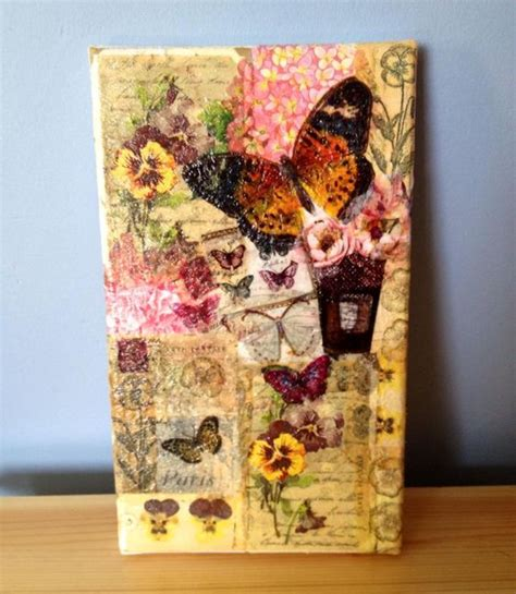 Serviette Decoupage On Wood - paper napkin decoupage canvas my crafts