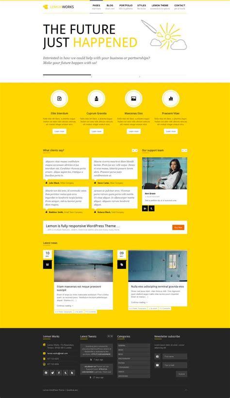 wordpress theme free yellow 15 best wordpress yellow color themes