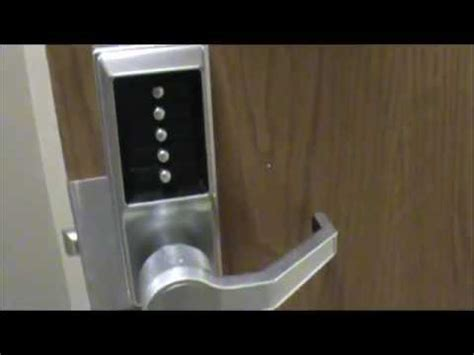 how to change code on front door lock simplex push button lock installation