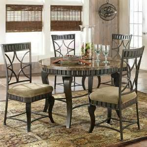 Rooms To Go Marble Dining Table Steve Silver Hamlyn 5 Faux Marble Top Metal Dining Table Set