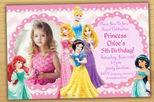 princess themed invitation template disney princess birthday invitation disney princess