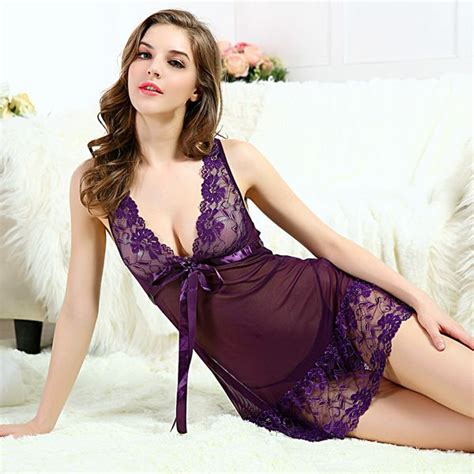 Black Sleep Wear Transparant V Neck With G Strin buy wholesale sleeping wear from china
