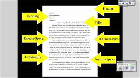College Essay Set Up by Mla Tutorial 1 Basic Paper Formatting