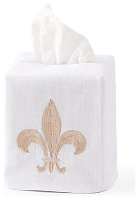 fleur de lis bathroom accessories tissue box cover fleur de lis beige traditional