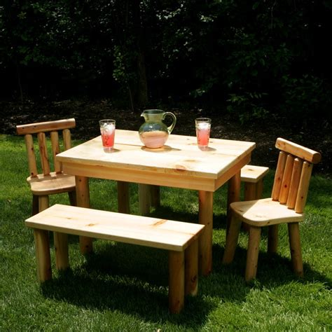 creative and cool picnic table design for back yard and