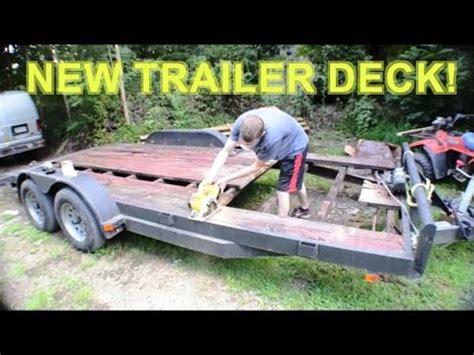 replace install  wood deck  painting car hauler