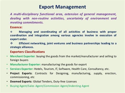 Export Management Notes For Mba how to start an export import business