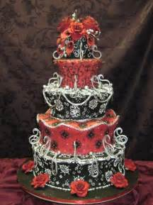 Nightmare Before Christmas Wedding Centerpieces - wedding cakes pictures red and black wedding cakes