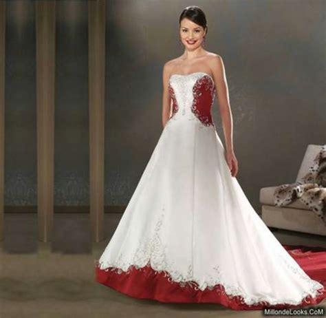 imagenes de vestidos de novia con detalles rojos imagenes de vestidos de novia blanco con rojo