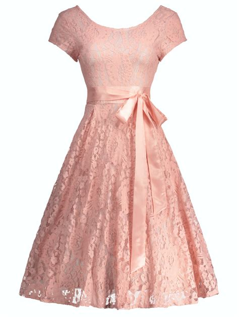 Dress Korea Pink By Griyaaglie cocktail floral lace vintage dress in pink xl sammydress