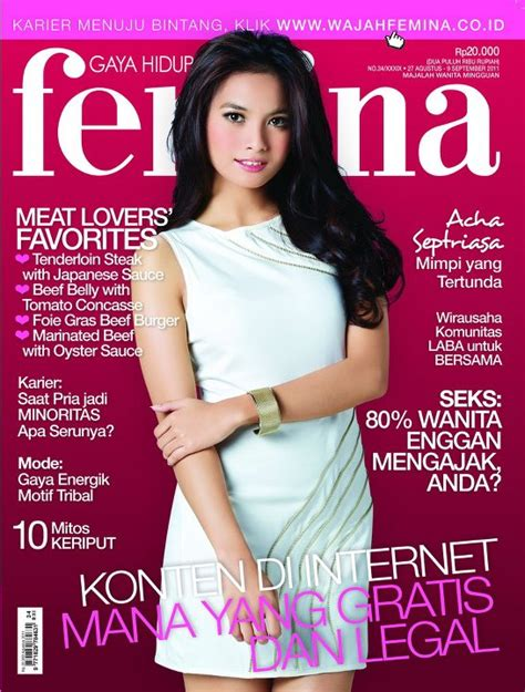 Majalah Femina all about gadis sul acha septriasa femina cover