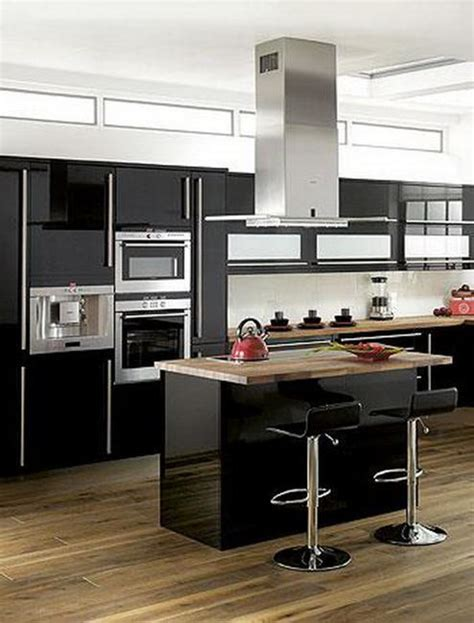 modern black kitchen cabinets 25 plus 25 contemporary kitchen design ideas black