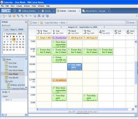 Lotus Notes Calendar Template lotus notes calendar template calendar template 2016