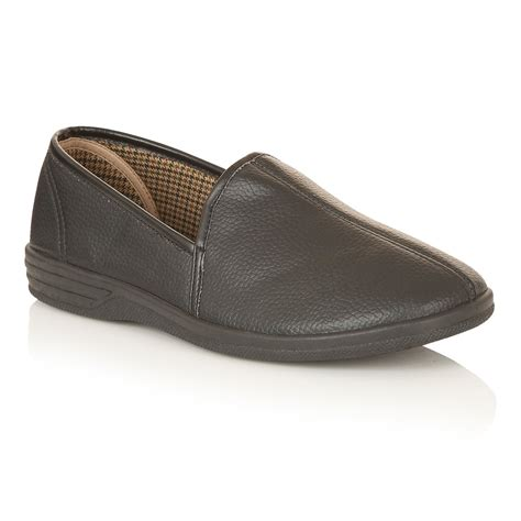 lotus slippers s headley black slipper shoes