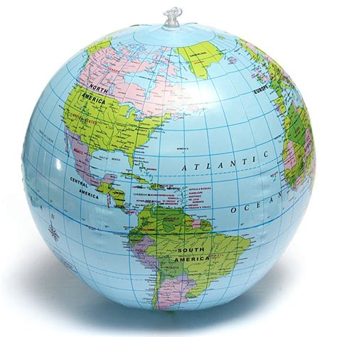 38cm pvc inflatable earth globe home decor geographical