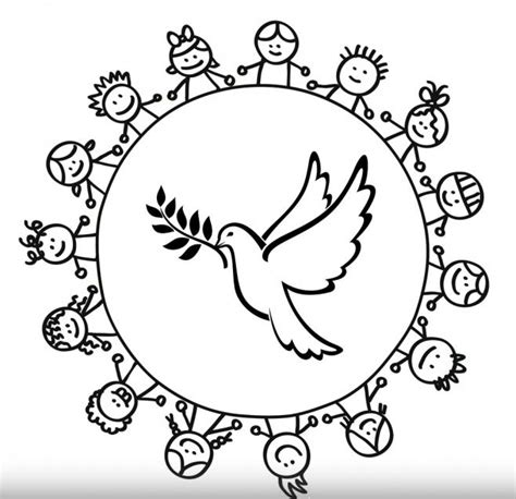 imagenes para dibujar sobre la paz bellas im 225 genes alusivas a la paz para colorear imagenes