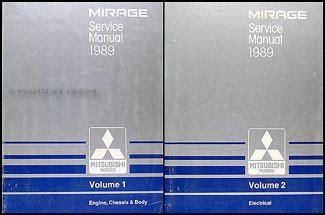 free car manuals to download 1989 mitsubishi mirage user handbook 1989 mitsubishi mirage repair shop manual set original