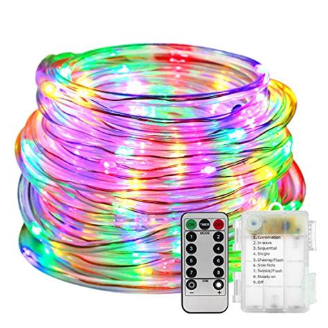 led rope lights battery operated with remote timer 8 mode