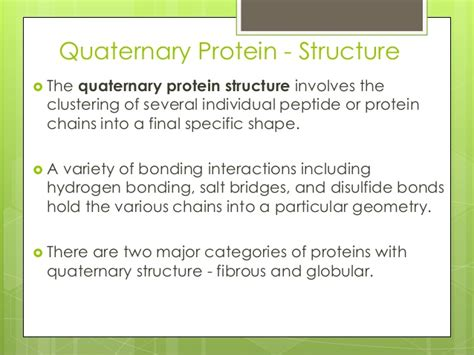 protein quaternary structure bonds quaternary structure of protein