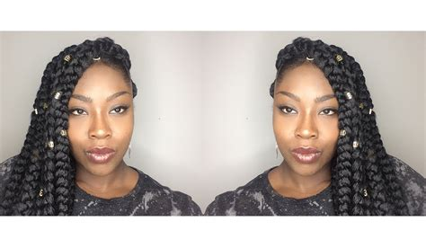 how to keep crochet box braids from coming out how to crochet jumbo box braids youtube
