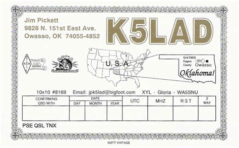 qsl card templates free k5lad qsl cards