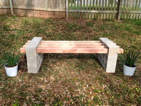 cinder block bench diy 17 awesome diy outdoor bench ideas