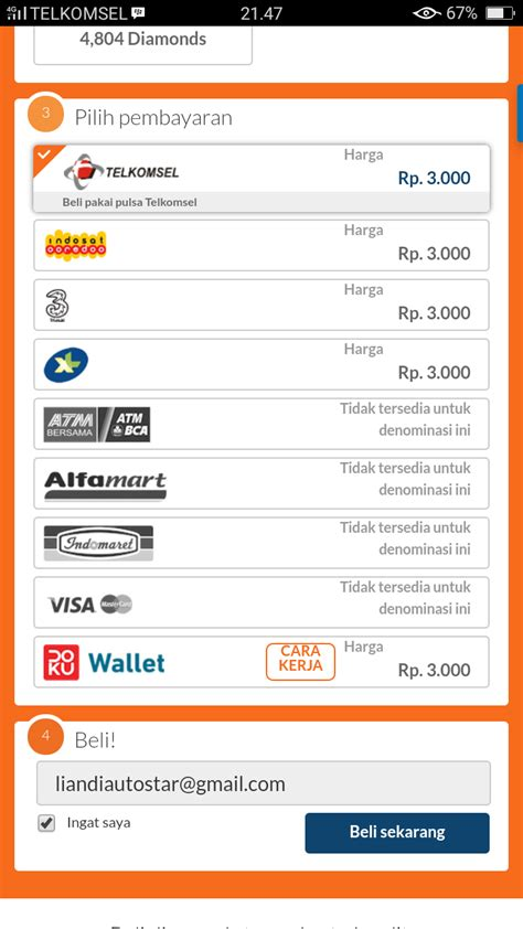 codashop email mobile legend cara beli diamond lewat codashop via pulsa