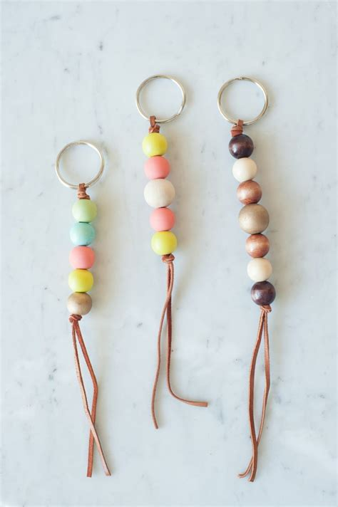 how to make beaded keychains for diy wooden bead keychain the sweetest occasion