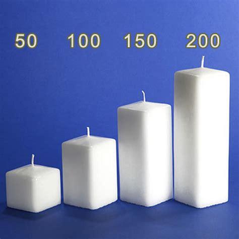 kerzen kaufen kerzenrohling vierkant kerze 200x60x60mm im candela shop
