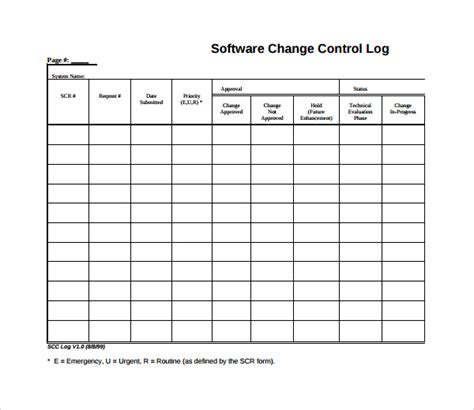 change log template project management sle change log template 6 free documents in pdf