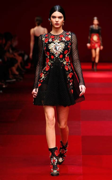 Take A Peek At Japan Fashion Week by Kendall Jenner Is Front And Center At Dolce Gabbana S