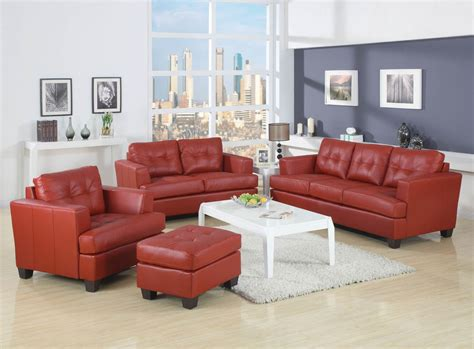 red bonded leather sofa red bonded leather sofa