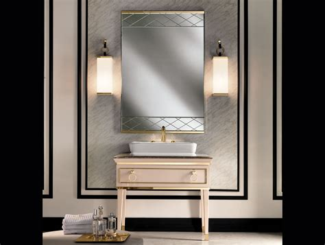 high end vanity with trough sink for small bathroom and