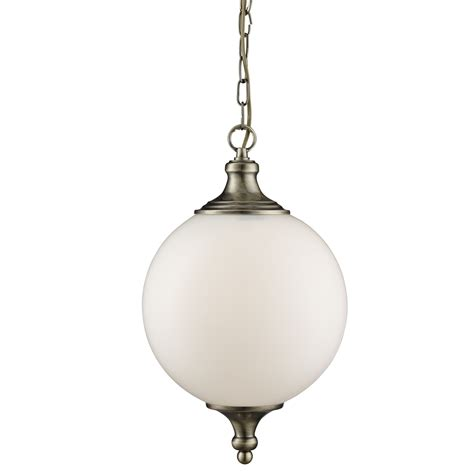 Atom Pendant Light Atom Antique Brass Pendant Light With Opal Glass Shade
