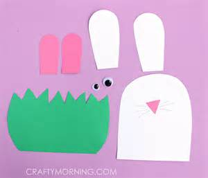 easter bunny craft template paper bunny hiding in the grass craft crafty morning