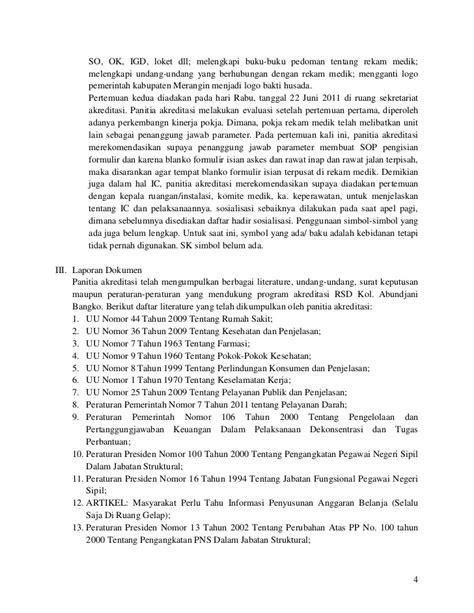 format absensi satpam laporan kegiatan panitia akreditasi rsd kol