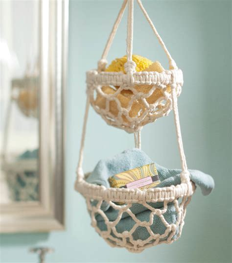 Macrame Hanging Basket - macrame hanging basket at joann