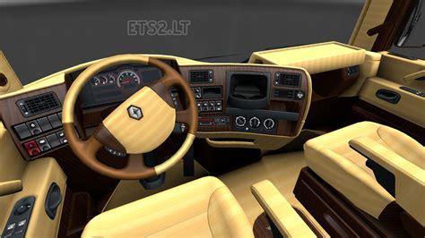 renault truck interior renault magnum wood interior ets 2 mods