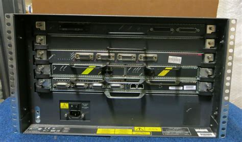 cisco 7505 5 card slot 6u rack mount network ethernet