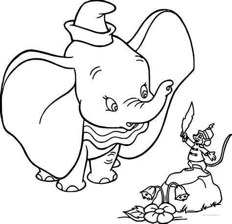 dumbo coloring pages dumbo timothy feather coloring page wecoloringpage