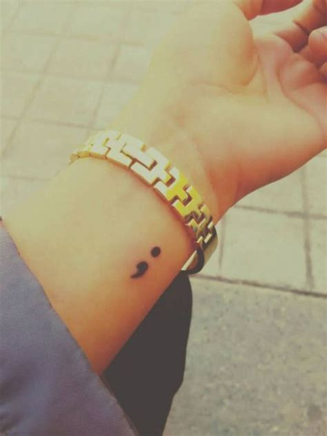 semicolon tattoo placement 25 best ideas about semicolon placement on