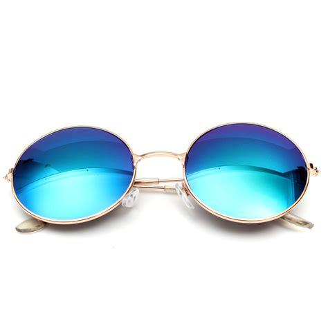 Kacamata Sunglass Wanita Beckh Kode Vc2348 retro vintage pria wanita kacamata hitam bingkai logam bundar besar kacamata fashion eyewear