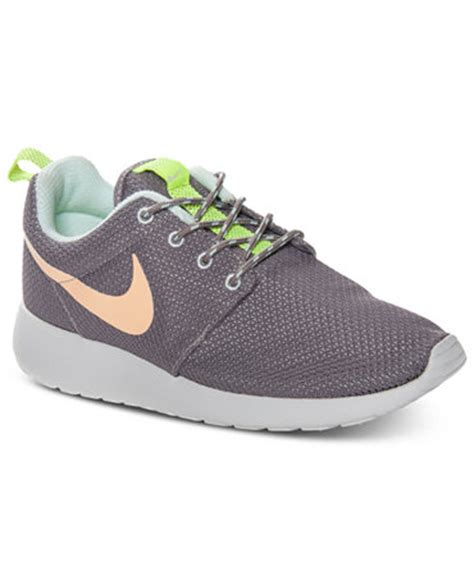 macys athletic shoes nike s rosherun casual sneakers from finish line
