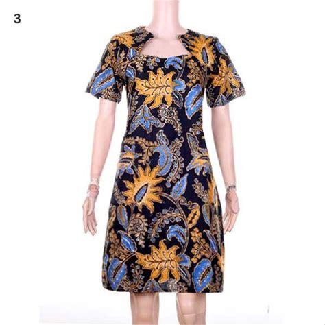 jual dress batik gaun batik baju batik moden angela