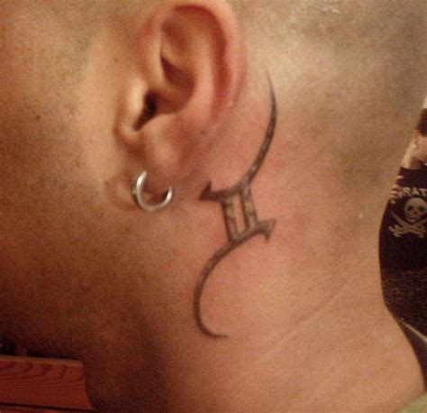 side neck tattoo designs gemini tattoos designs ideas and meaning tattoos for you