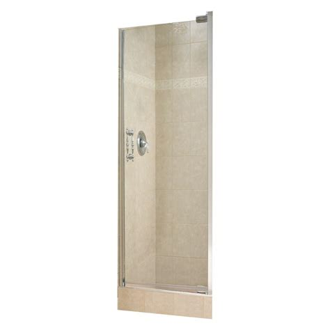Maax Glass Shower Doors Maax 26 1 2 In X 67 In Pivot Shower Door In Chrome 104148 900 084 The Home Depot