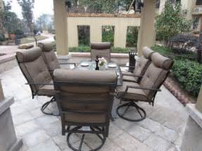 Patio Dining Sets Clearance Patio Sets Clearance 7pc Ravello Outdoor Patio Dining Set Swivel Rocking Promo Offer
