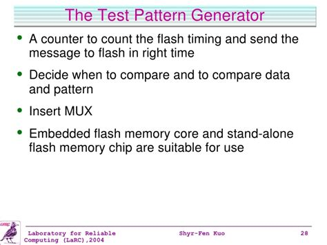 video test pattern generator ip core semiconductor memory test time reduction and automatic
