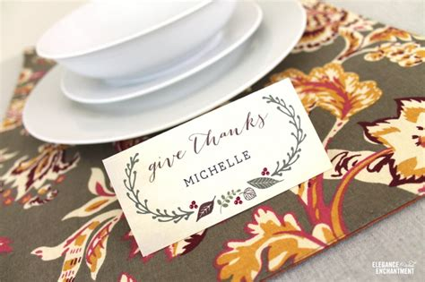 thanksgiving table name cards free printable thanksgiving place cards