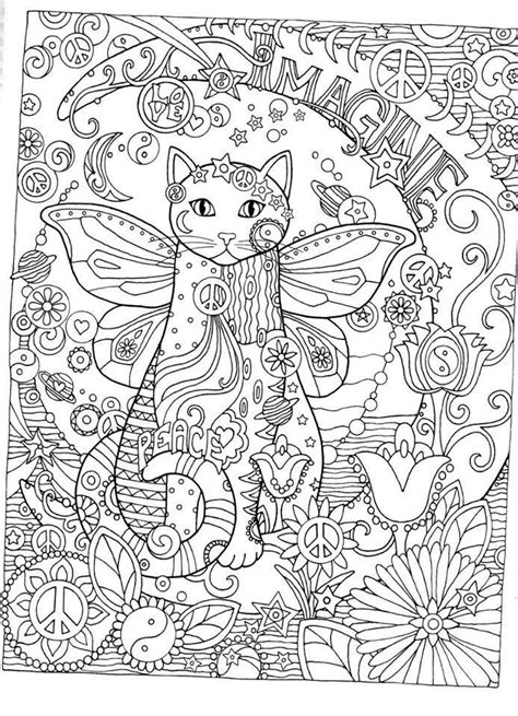 creative cats adult coloring pages gatos coloring